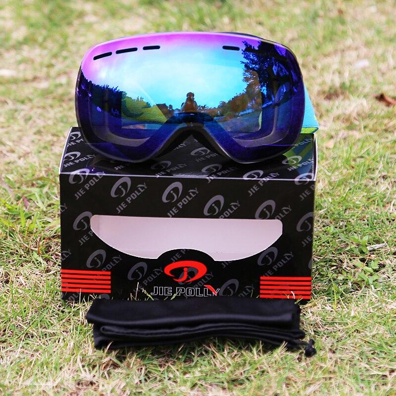 Lunettes de Ski veste de Sport de Neige Snowboard avec Anti-brouillard À Double Lentille cagoule lunettes Ski homme femme neige snowboard lunettes