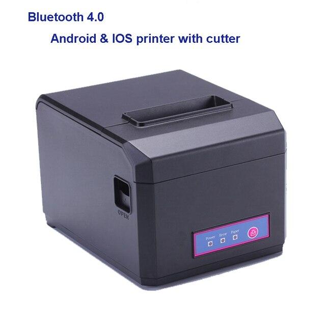 Получение Pos impressora multifuncional 80 также поддерживает 58 мм бумаги bluetooth термопринтер ios машина с автоматическим резаком качества