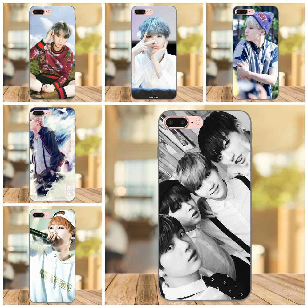 Для Apple iPhone 4 4S 5 5S SE 6 6 S 7 8 Plus X XS Max XR мягкие чехлы группа suga Bangtan Boys