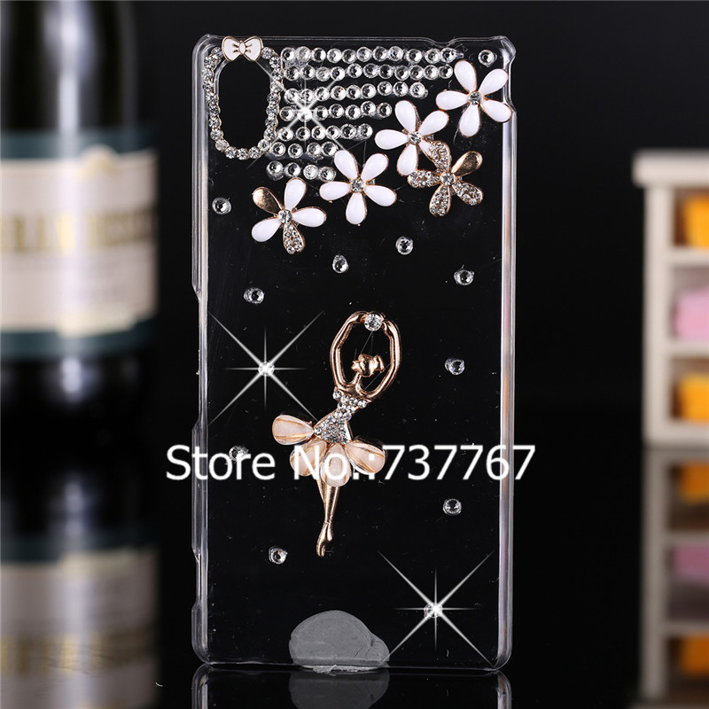 Luxury 3d case For Sony Xperia M4 Aqua ,Crystal Bling Case Rhinestone Cover For Sony Xperia M4 Aqua Dual E2303 E2333 E2353  Case