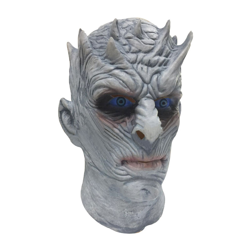 Night's King Cosplay Mask Game of Thrones Season 7 White Walkers Men Full Head Undead Latex Mask Cosplay for Halloween Carnival