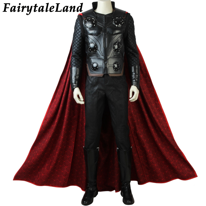 Avengers Infinity War Thor Cosplay Costume Carnival Halloween costumes Superhero Thor Costume Cosplay Avengers 3 suit