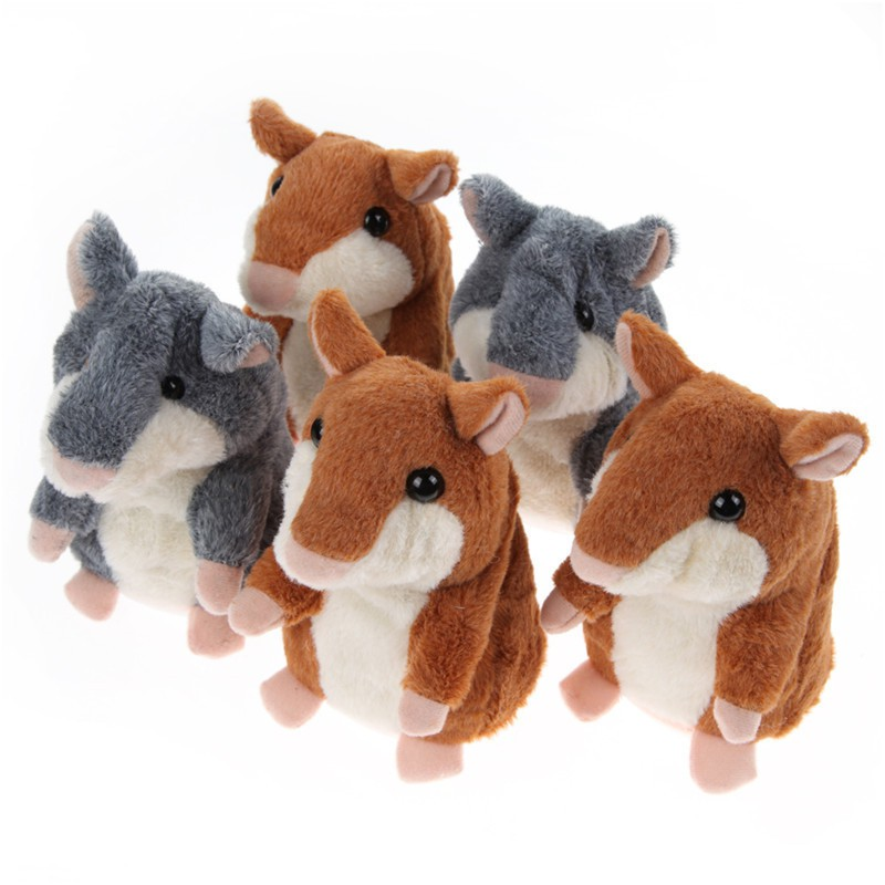 Hot Children Talking Hamster Plush Lovely Toy Sound Record Speaking Hamster Talking Toys