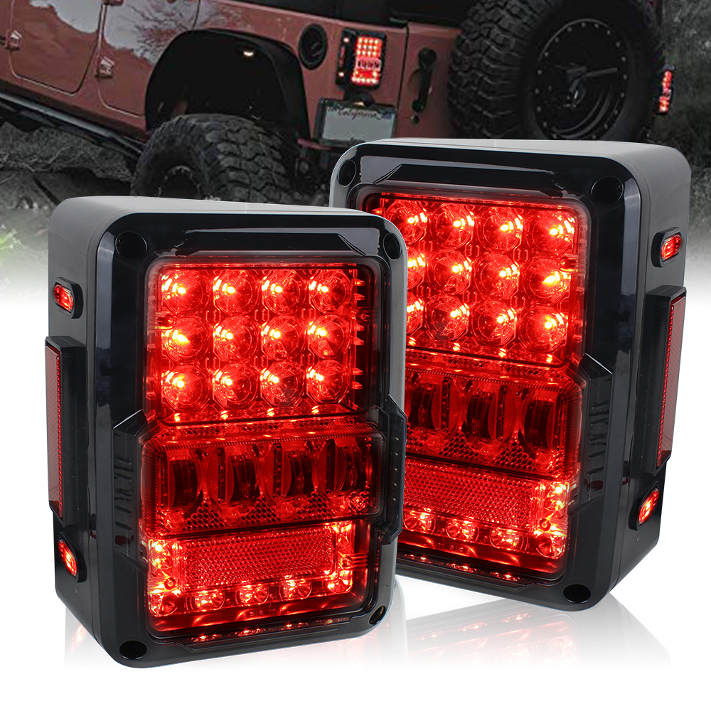 For Jeep JK Super Bright Tail Light Reverse light Real Back Up Turn Signal Lamp LED