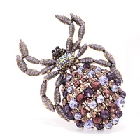 Vintage Rhinestone Crystal Big Spider Animal Brooch Pin Broach For Woman Shoes,Bag Accessories Jewelry 4792 (More Colors)