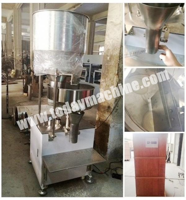 Granule product weighing filling machine , rice / salt/peanut weighing filling machine  stainless steel granule weighing filling machine with feeder