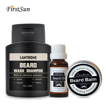 Labthome 3PCS Men Moustache Cream / Beard Organic Oil Kit