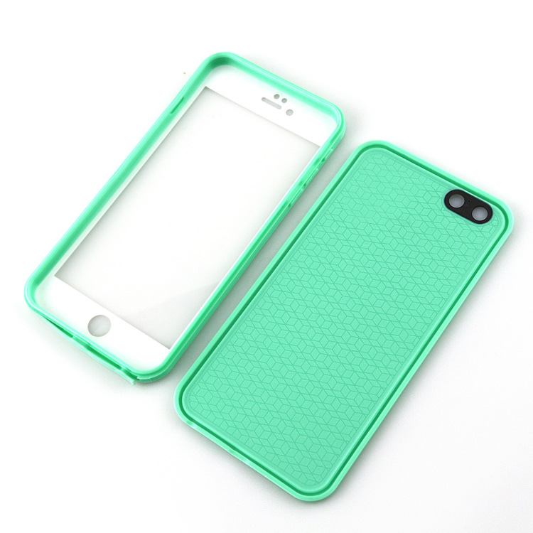 For iPhone 7 6 6S 6S plus Ultra Slim Luxury Shockproof Hybrid Rubber Waterproof Soft Silicon TPU Touch Case Back Cover IP 5 SE