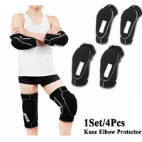 New 4Pcs Knee Elbow Protector Set Motorcycle Cycling Bike Racing Skiing Ski Tactical Skate Knee Pads and Guard Elbow Pad