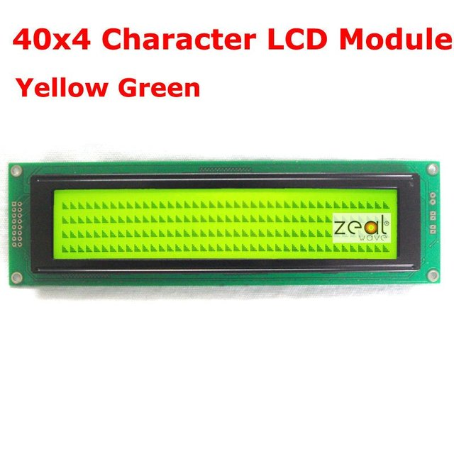 40x4 4004 Character LCD Module Yellow Green  LED Backlight SPLC780D Free Shipping Free Tracking