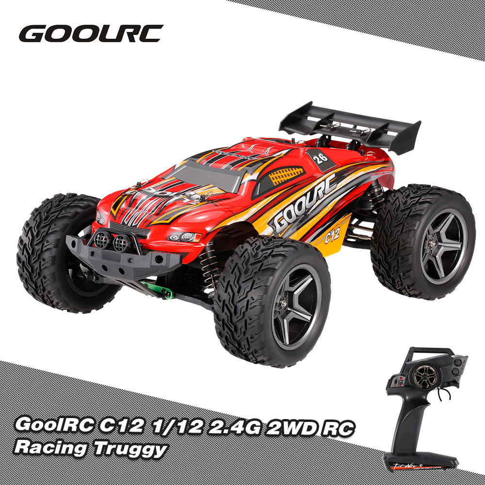 GoolRC RC Cars C12 2.4GHz 2WD 1/12 35km/h Brushed Electric Truck Racing Truggy Off-Road Buggy RC Car RTR Remote Control Toys hsp bajer 5b 1 5th 2wd rtr 26cc engine gasoline off road buggy 94054