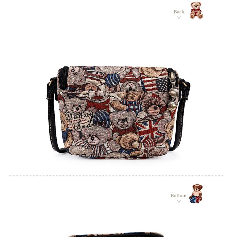 d9f18aa459 DANNY BEAR Cute Small Crossbody Bag For Women Fashion Vintage Mini ...