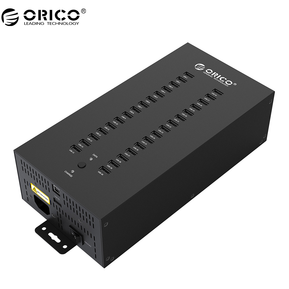 лучшая цена ORICO 30 Ports Industrial USB2.0 HUB wirh 300W Detached Power Module (IH30P)