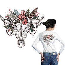 cow bull ox patches for clothing iron on transfer T-shirt jeans diy patch thermocollants vetement american style stickers