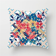 Fuwatacchi Wedding Decoration Cushion Cover Tropical Leaves Flower Pineapple Pillow Cover Sofa Chair Home Decorative Pillow Case цены