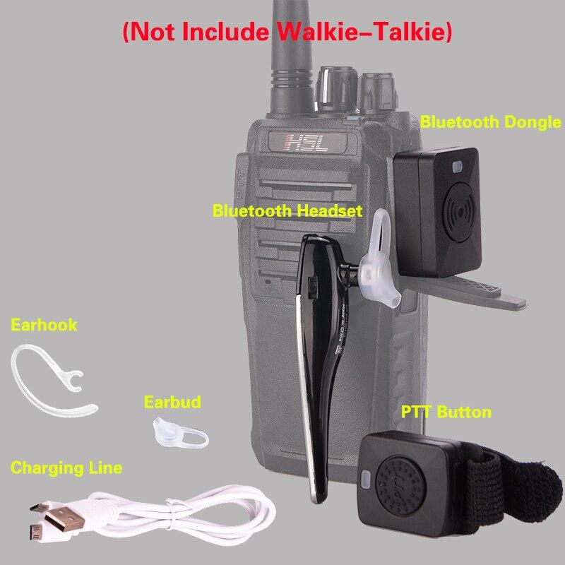 Image 5 - 2 ピーストランシーバー Bluetooth ヘッドセット 18K/メートルインタフェースイヤホンハンドヘルド双方向ラジオ無線受話口オートバイ Baofeng -    グループ上の 携帯電話 & 電気通信 からの トランシーバー の中