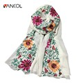Colorful Mori Girl Large Size Scarves Fall Wrap for Women Pashmina 180*90 Embroidery Flowerl Linen Scarf  Women Cotton Shawls