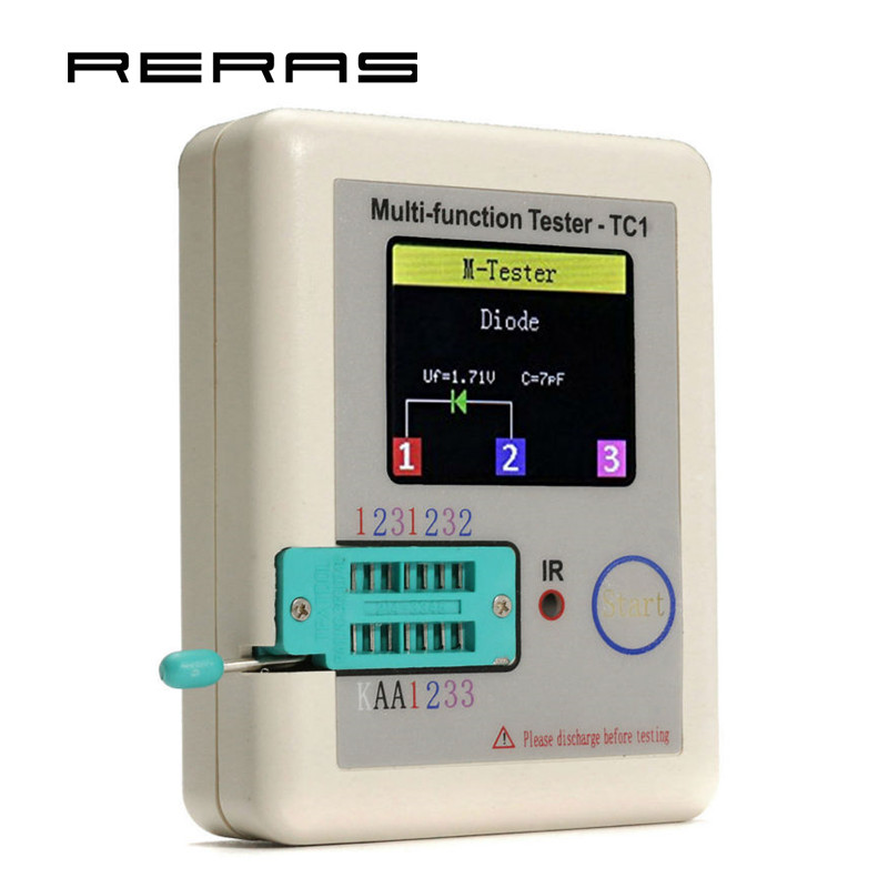 TFT Diode Triode Capacitance Meter LCR ESR NPN PNP MOSFET LCR TC1 3 5 TFT Muiltmeter