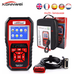 KONNWEI KW850 OBD2 OBD II Automotive Code Scanner Multi-languages Auto Car Diagnostic Tools full system Better than NT301 AD510