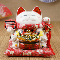 Hot Selling Newest Lucky Cat Ornaments Lucky Cat Large Japanese Ceramic Lucky Cat Piggy Bank Opened In Creative Gifts