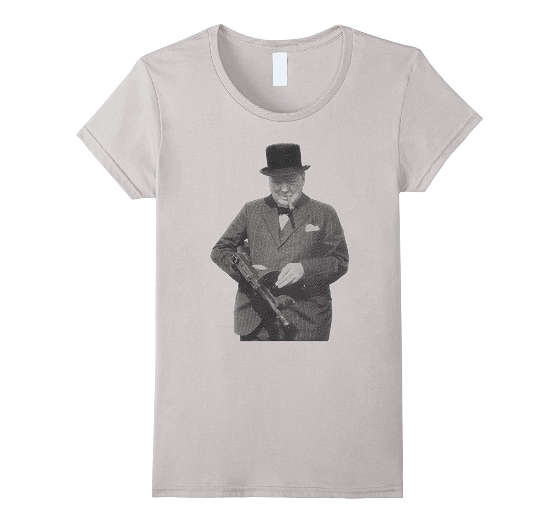 2018 New Arrival Fashion O Neck Men Kult S M L Xl 2Xl 3Xl Churchill Holding A Machine Gun T Shirt ...