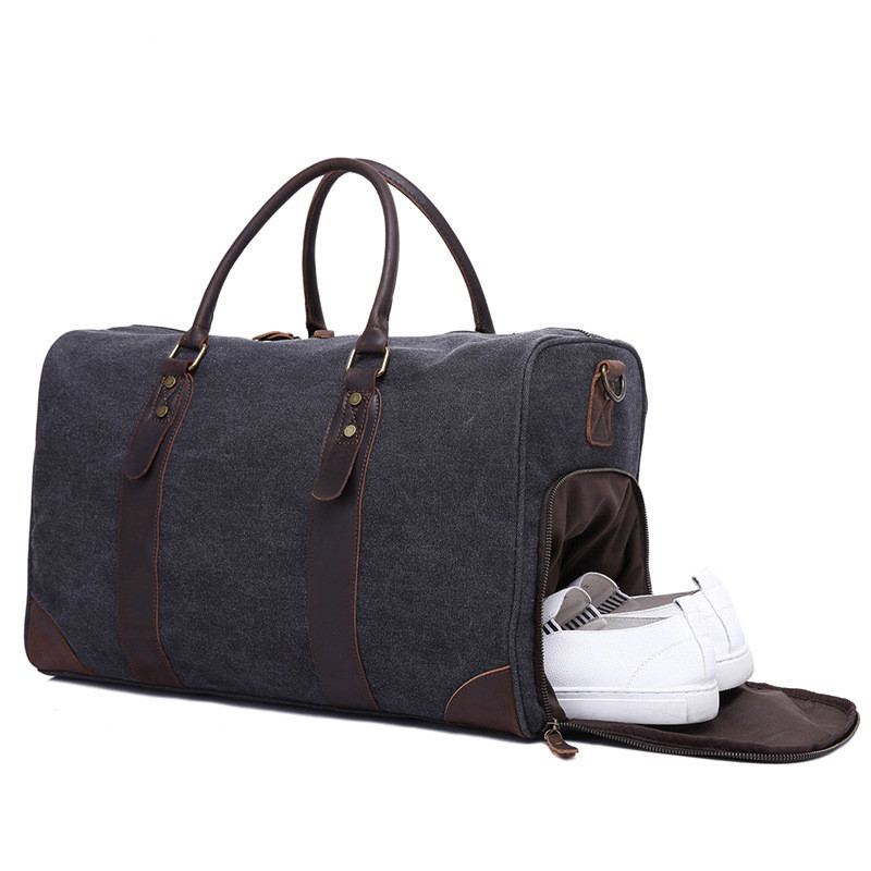 Travel Bags Canvas Large-capacity Retro Handbag Travel Bag Wearable +Waterproof Travel Bag