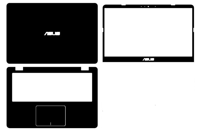 Laptop Carbon fiber Vinyl Skin Stickers Cover guard For ASUS VivoBook X405UQ X405UR X405UA 14