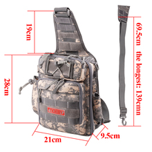 Noeby Fishing Bag 28*21*9.5cm Shoulder Fishing Tackle Bags Waterproof Backpack Crossbody Messenger Sling Bolsa Pesca Sports