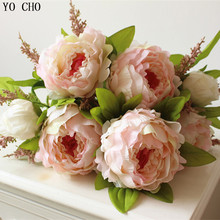 (7 heads/bunch) 2014 New.Silk / Simulation Artificial flower Peony bouquet.Free shipping.