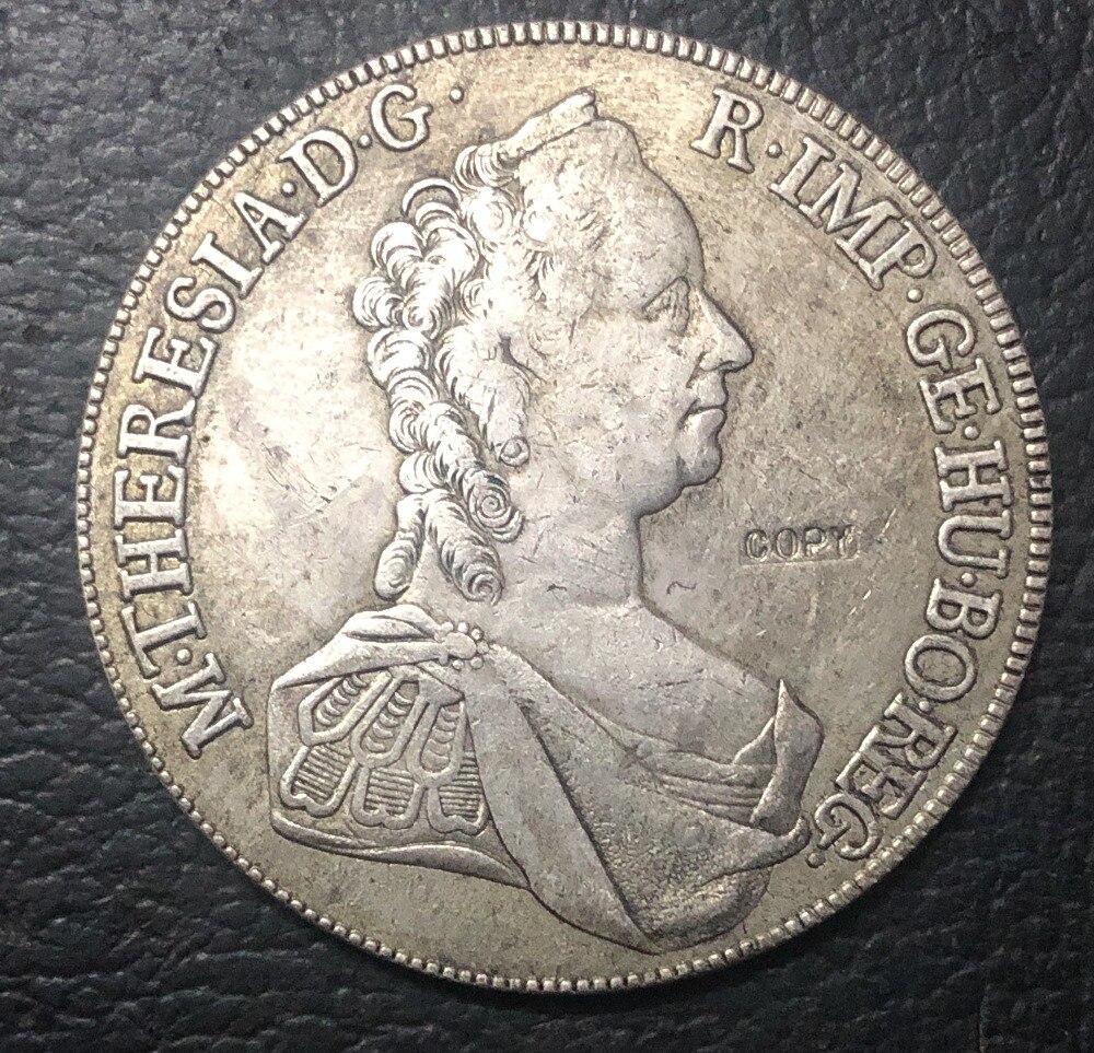Vintage Ashtray 3 x 1 Thaler Maria Theresia Silver Original Coins