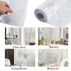 DIY Window Glass Film One Way Mirror White Insulation Frosted Stained Stickers 100*45cm Solar Reflective Home Decoration Bedroom