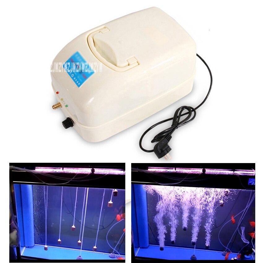 F-8900 120W 100L/min AC/DC Aquarium Air Pump Fish Tank Oxygen Pump Portable Ultra Silent Mini Air Compressor With 24m Air Tube