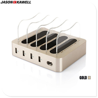 Hot Sales New Arrival 4 USB Ports Mobile Charger Dock Quick Charging Station 5V 4A Free