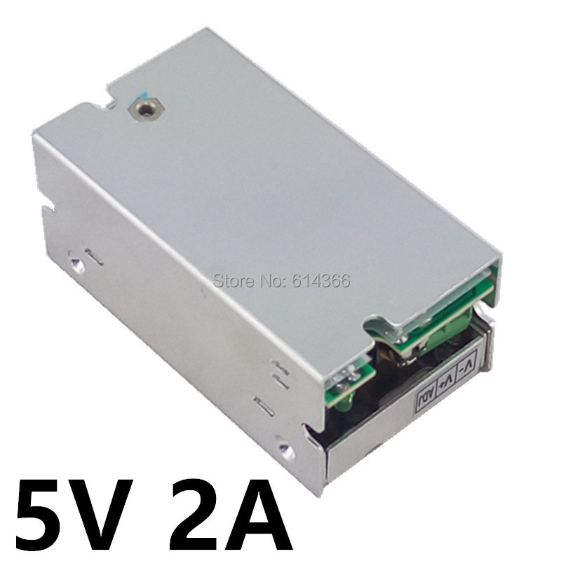 10PCS Best quality 5V 2A 10W Switching Power Supply 5V Driver for LED Strip AC 100-240V Input to DC 5V Power Supply цены