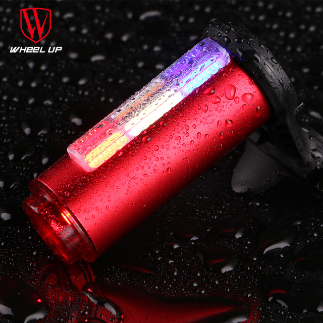 WHEEL UP Bike Light USB Rechargeable 360 Safety Seat post Tail-light 7 Modes COB Lamp Beads LEDS Bicycle Light Free Shipping new