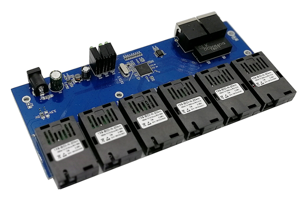 fibra SC 20 KM Ethernet switch Fast