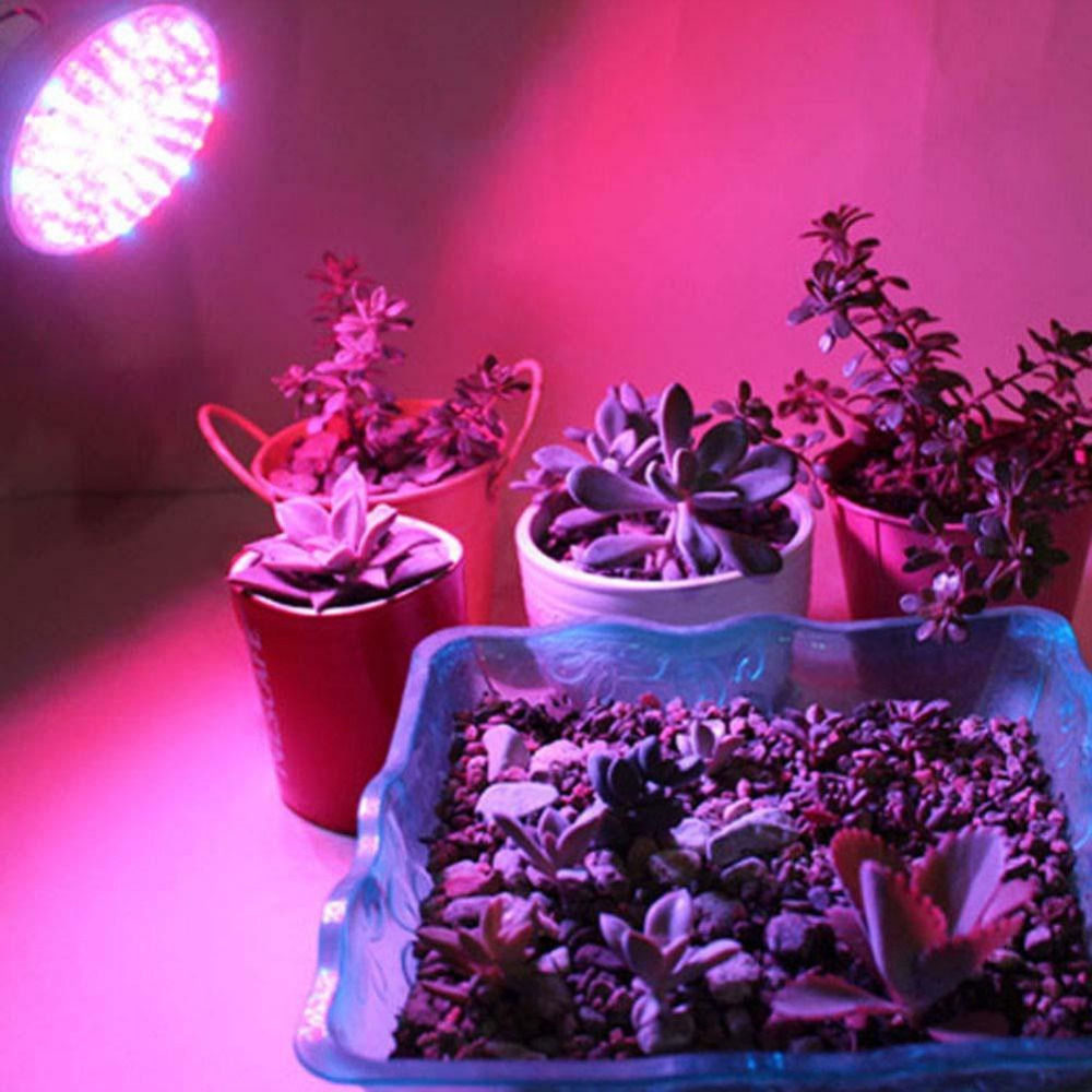 6W 60LED E27 Hydroponic Plant Grow Light Panel Full Spectrum Indoor Grow Lamp led light best