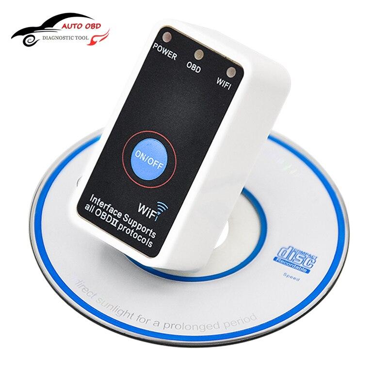 Super Mini V2 1 ELM327 Wifi Interface ELM 327 OBD2 WiFi Car Diagnostics Scanner On off