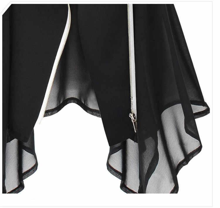 Женская мода Элегантный шифон Офисные женские туфли Ruched жилет куртка Новые летние одноцветное Для женщин большой Размеры жилет без рукавов куртка CH193