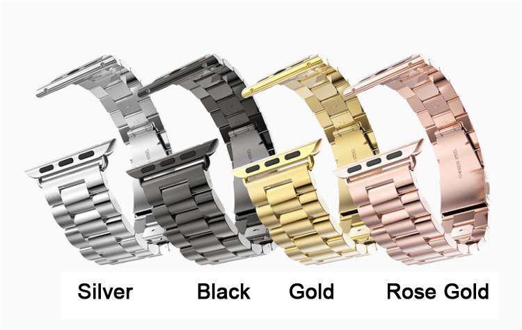 группа для Apple, часы 42 мм черный золотой браслет из нержавеющей стали туфли с ремешком и пряжкой клип адаптер для 38 мм Apple, часы группа для часов iwatch