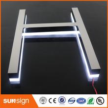 Sklepy łańcuchowe reklama lustro kanał ze stali nierdzewnej litery znak tanie tanio shsuosai CN (pochodzenie) frontlit letter sign 0061