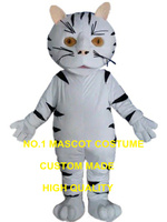 white cat mascot costume adult size custom cartoon character cosplay carnival costume 3270