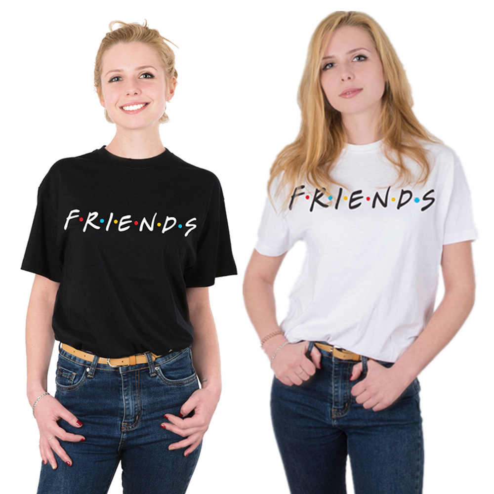 2019 Summer Women T Shirt FRIENDS Letter Print Friends T-shirt Casual Short Sleeve Tops Tee O Neck Female Tops Camisetas Mujer