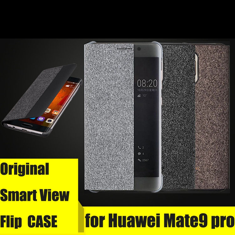 size 40 6691e 4b38a US $63.64 14% OFF|10piece Original Official HUAWEI Mate 9 Pro Case Phone  Cover Original Smart Window Flip Leather Cover For HUAWEI Mate9 Pro  coque-in ...