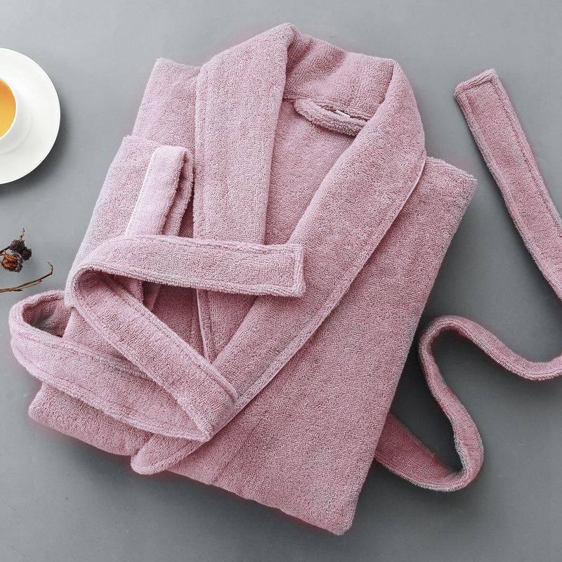 Women Bathrobe Winter cotton Plus Size Long Thick Warm Kimono Bath Robe Dressing Pregnant Bridesmaid Robes white