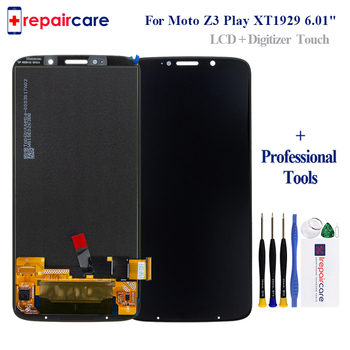 Tested Original LCD For Moto Z3 Play LCD Z3 Play Display For Moto Z3 Play XT1929 Display LCD Screen Touch Digitizer