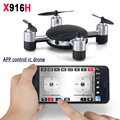 MJX X916H Mini RC Drones Quadcopter 6-AXIS GYRO 2.4G WIFI Câmera Zangão FPV 720 P HD Real-time APLICATIVO de Controle Remoto Helicóptero