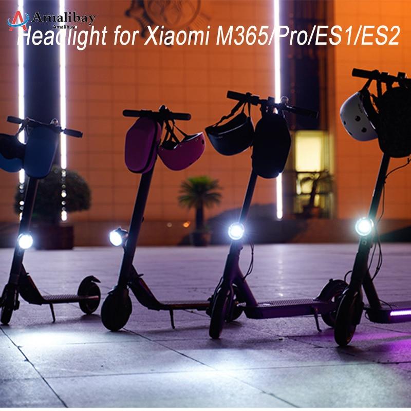 Ajustável de Segurança para Ninebot Peças para Scooter Luz de Led para Scooter para Xiaomi Luz de Farol Dianteiro M365 Pro Es2 Es1