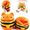 S Quishys Cat Burger Slow Rising Soft Animal Collection Gift Decor Toy O Riginal Packaging