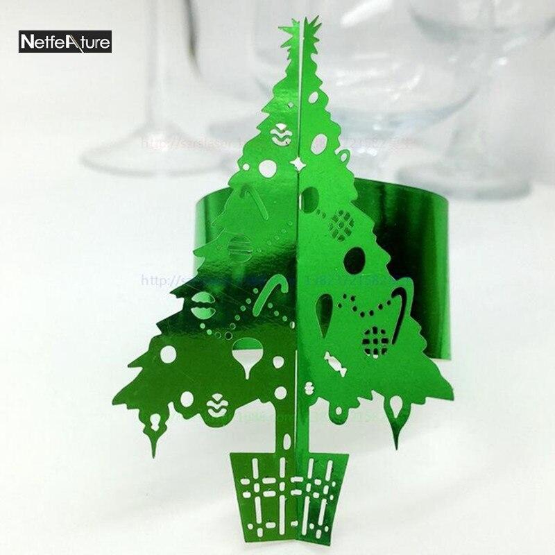Christmas Tree Napkin Pattern: Wholesale 100Pcs Christmas Tree Pattern Hollow Paper